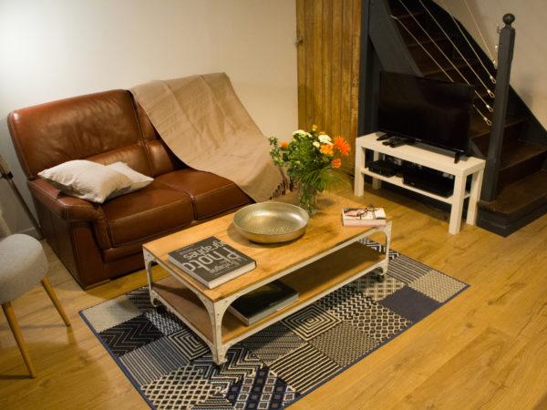 Le salon du Gite Ker Spa à Dol de Bretagne